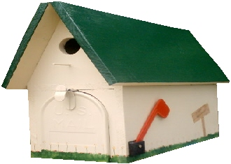 Mailbox Birdhouse Stock Photo - Image: 60776120