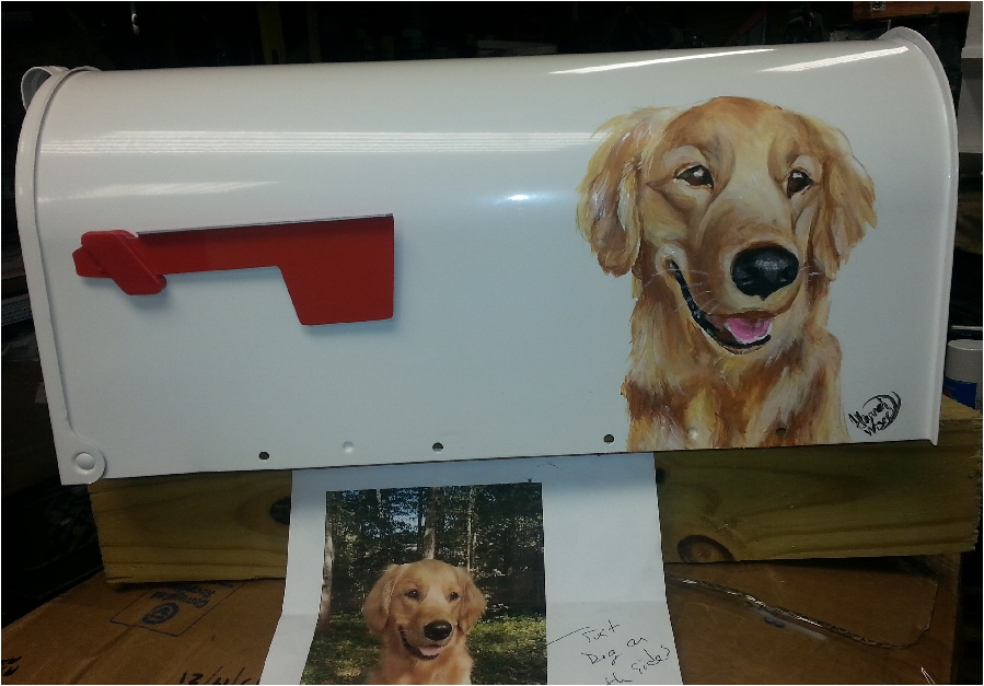 Pet portrait mailboxes