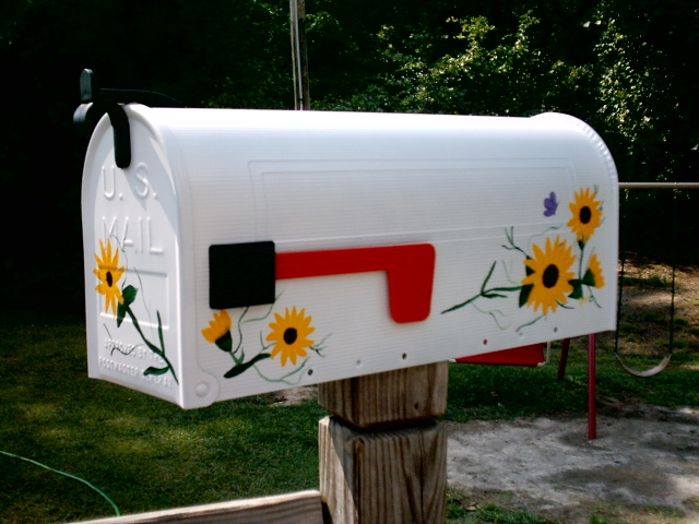 fruit mailbox, flower mailbox